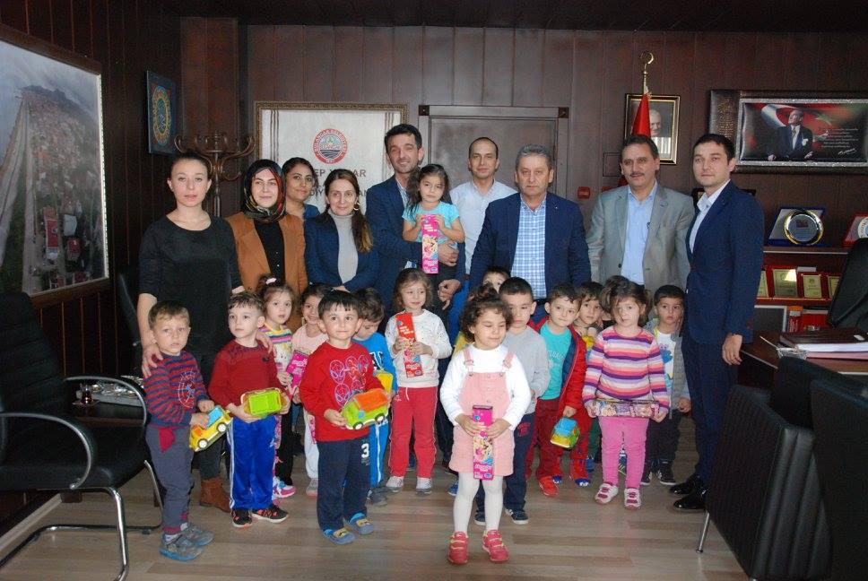 Sabiha Özdemir Anaokulundan Başkanlığa ziyaret