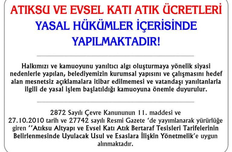 Başkan Recep Yakar'dan Evsel Katı Atık'la ilgili açıklama!
