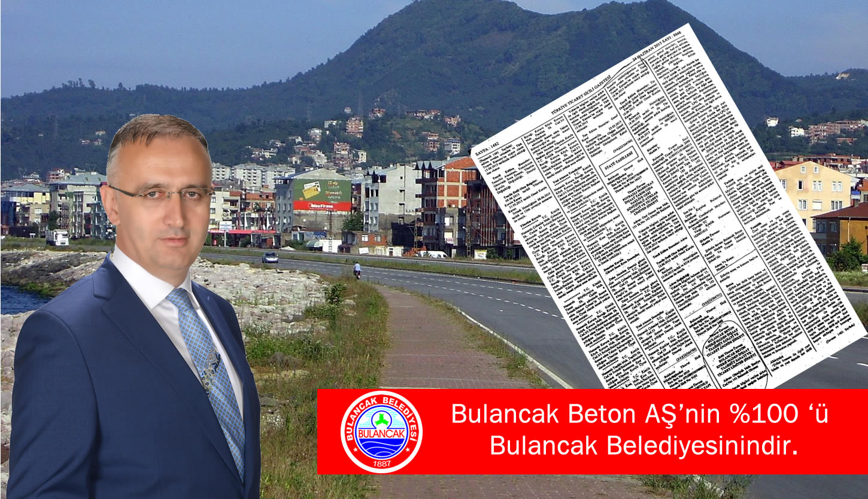 Bulancak Beton AŞ ile ilgili Basın Açıklaması!