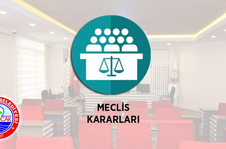 2018 yılı Ağustos ayı Meclis Kararları